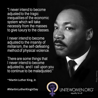 UniteWomen.org - #MartinLutherKingJrDay  | Coffee Party Feminists | Scoop.it