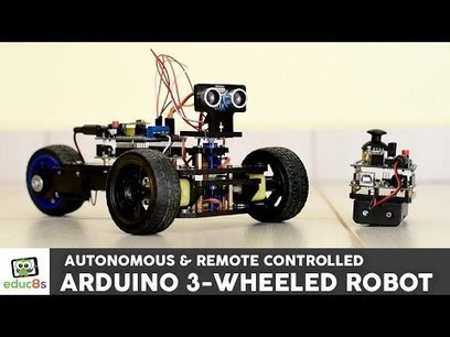 Arduino Project: 3 Wheeled Robot with remote contol or autonomous navigation! | Robot News | Raspberry Pi | Scoop.it