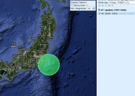 [séisme] relative accalmie depuis 2 jours | Japan Quake Map | Japon : séisme, tsunami & conséquences | Scoop.it
