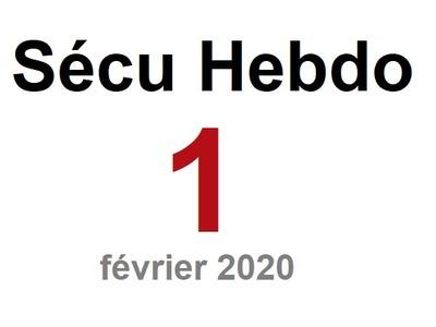Sécu Hebdo 1 du 2 février 2020
