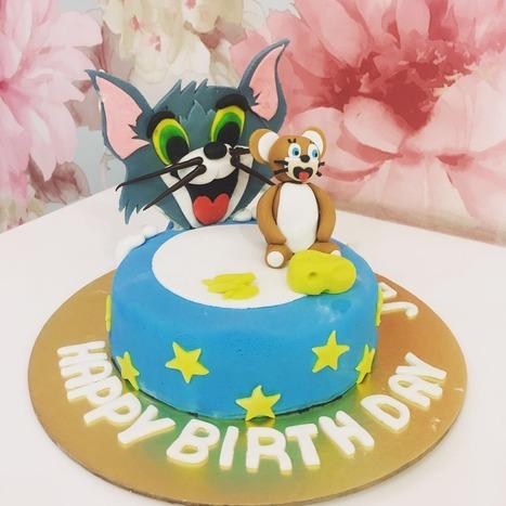 Pleasing Tom And Jerry Birthday Cake Order Tom And Jerr Personalised Birthday Cards Veneteletsinfo