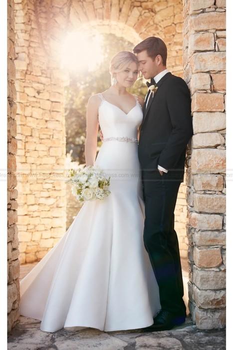 5755cc50a0e5 Essense of Australia Fit And Flare Wedding Dress With Keyhole Back Style  D2177