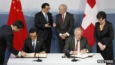 China in first Swiss free-trade deal | Geography In the News | Scoop.it