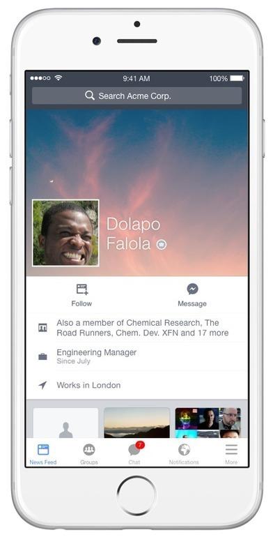 Facebook at Work : un déploiement avant la fin de l'année | Social medias & Digital Marketing | Scoop.it