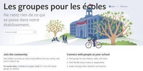 Des groupes pour les écoles sur Facebook | éducation_nouvelles technologies_généralités | Scoop.it