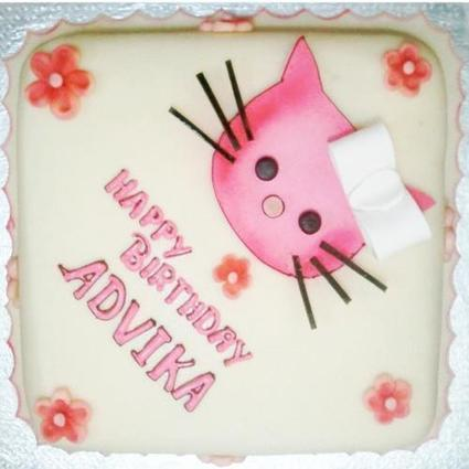 Art Work On Cake