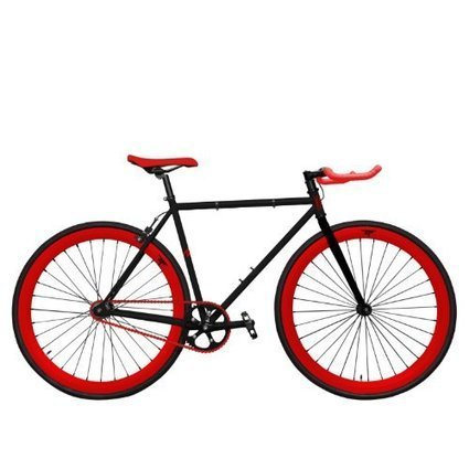 Zycle Fix Bike 59 CM Fixed Gear Cycle Black Cherry Pursuit Fixie Bicycle  59cm 5631605e7