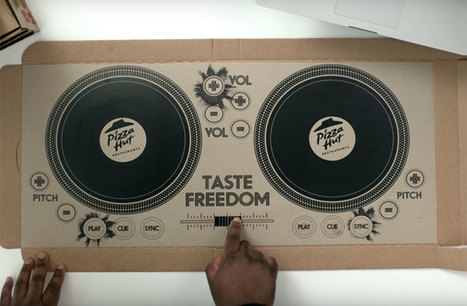 Pizza Hut unveils playable pizza box DJ decks by Novalia | What's new in Visual Communication? | Scoop.it