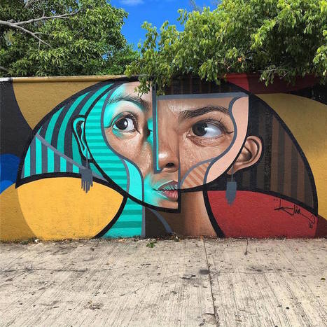 #Cubism and #Realism #Collide in New #Murals and #Paintings by 'Belin' #art | Luby Art | Scoop.it