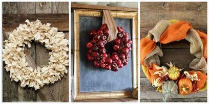 21 Diy Fall Wreaths Ideas For Autumn Wreath C
