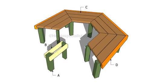 How To Build A Tree Bench | HowToSpecialist   How To Build, Step By Step DIY  Plans