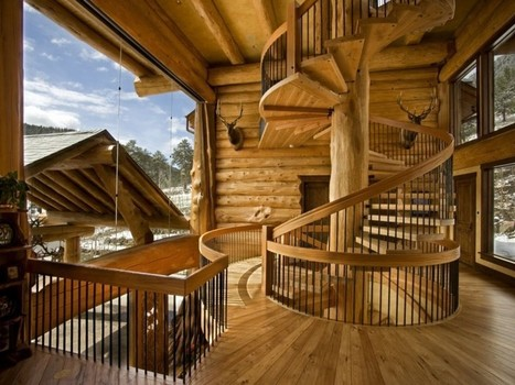 Imposing Log House in Colorado Mirroring Views of the Spectacular Rocky Mountains | tecnologia s sustentabilidade | Scoop.it