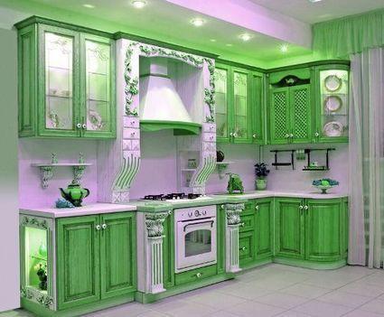 Innovative Elegant Green Kitchen Cabinets | Kitchen Appliance ... | Vintage Kitchens | Scoop.it