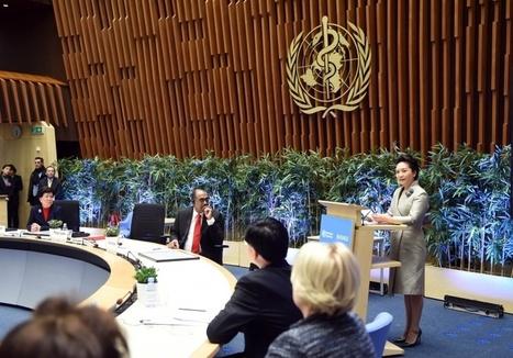 Photos : Peng Liyuan prononce un discours à Genève — Chine Informations | Herbovie | Scoop.it