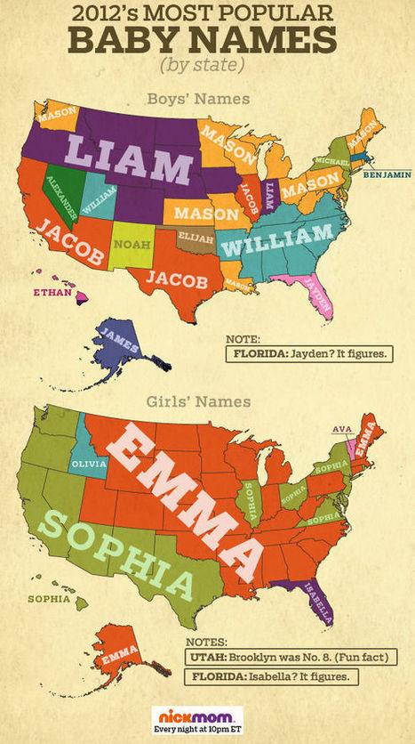 Baby Name Regions?   AP Human Geography Education   Scoop.it
