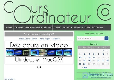 Cours-Ordinateur.fr :  site d'aide à destination des débutants en informatique | Time to Learn | Scoop.it