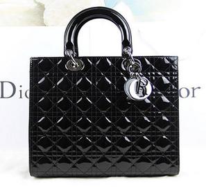 c8c80c0e7d00 Wholesale Réplique Argent Dior Grand Lady Dior Bag Noir brevet D20670 -  €195.64   répliques sac Louis Vuitton,Hermès sacs réduction,Chanel pas cher