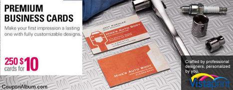 VistaPrint Premium Business cards!   Coupons & Deals   Scoop.it