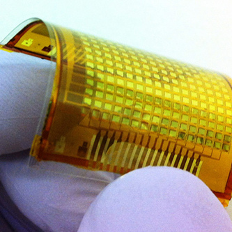 "Pressure-Sensing Electronic ""Skin"" Mike Orcutt - MIT Technology Review 