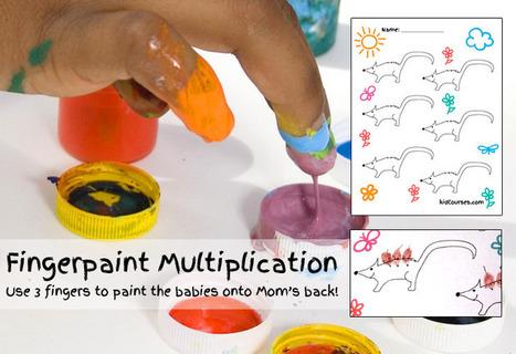 Fingerpaint Multiplication – Free Handout | Hands on Math | Scoop.it