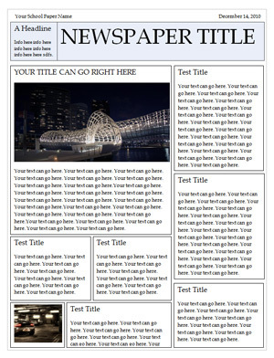Microsoft Word Newspaper Templates for Students...
