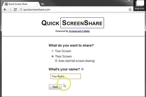 Quick Screen Share   Digital Presentations in Education   Scoop.it