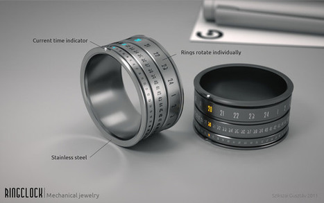 Futuristic Genius: Ring Clock | Mechanical Jewellery | I don't do fashion, I am fashion | Scoop.it