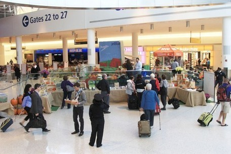 GrowNYC Farmers Market Pops Up in the Middle of JFK Airport JetBlue Terminal | Inhabitat New York City | Local Food Systems | Scoop.it