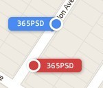 Colorful Map Tags - 365psd | GUI icons | Scoop.it