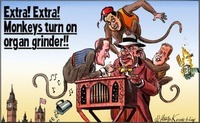 The English Blog: Cartoon: Monkeys Turn On Organ Grinder | English Language | Scoop.it