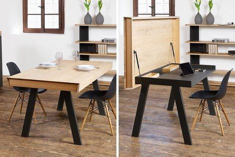 Convertible Celerina Table | L'Etablisienne, un atelier pour créer, fabriquer, rénover, personnaliser... | Scoop.it