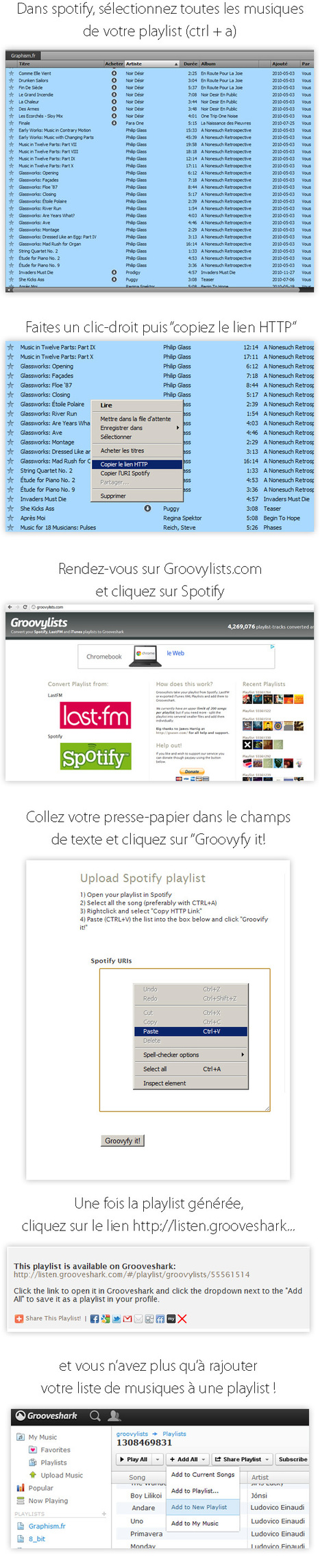 Comment migrer de Spotify vers Grooveshark | Time to Learn | Scoop.it