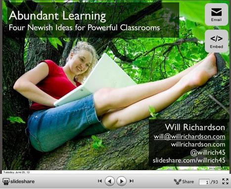 Education Futures | Will Richardson on knowmadic schooling | Active learning in Higher Education | Scoop.it