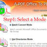 Batch Convert Microsoft Office Word,Excel documents to PDF