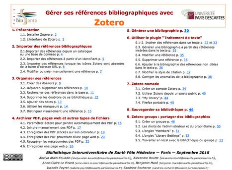 Gérer ses références bibliographiques avec Zotero - tutoriel de la BIU Santé | Zotero | Scoop.it