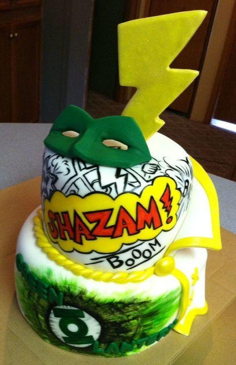 Pleasant Green Lantern Cakes Green Lantern Cake Ideas Funny Birthday Cards Online Amentibdeldamsfinfo