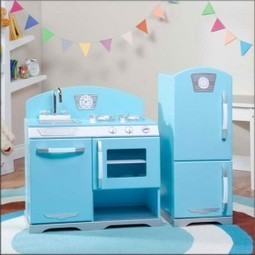 Kidkraft Vintage Kitchen In Blue 53227 | HPAC E...