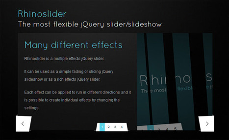 Rhinoslider: The most flexible jQuery slider/slideshow | Slideshow & Carousel Jquery | Scoop.it