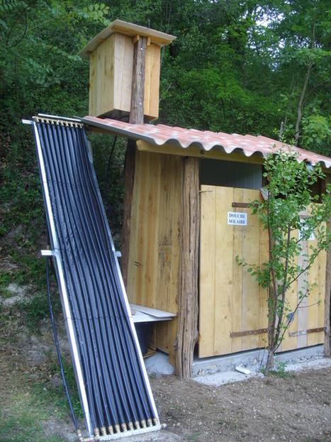 fabriquer une douche solaire