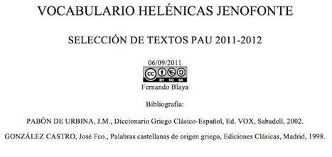 EURICLEA: VOCABULARIO JENOFONTE PAUCV | EURICLEA | Scoop.it