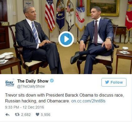 President Obama Explains to Trevor Noah How He Navigates Racial Topics | Mixed American Life | Scoop.it