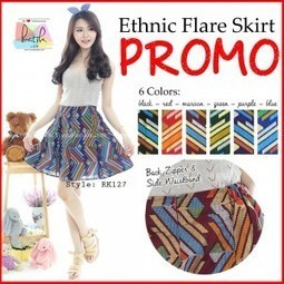 High Quality Ethnic Flare Skirt Batik (RK127)  f337182e93