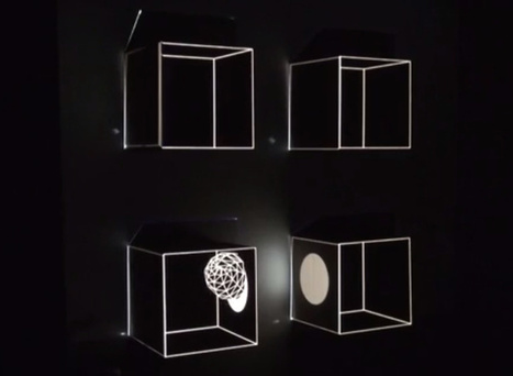 Minimalist projection mapping & real-time graphics | visual data | Scoop.it