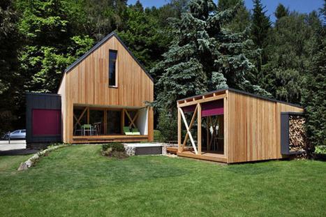 Maison contemporaine. Architectes : Prodesi/Domesi   Ageka les matériaux pour la construction bois.   Scoop.it