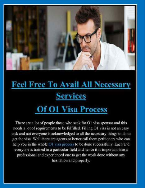 Feel Free To Avail All Necessary Services of O1 Visa Process | Artist Visa | Scoop.it