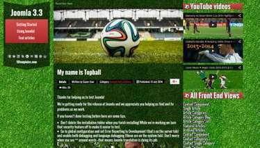 Joomla templates Topball 3 Football Free Joo