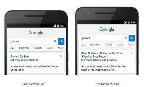 Google AdWords recommande de passer aux annonces textuelles grand format | Référencement internet | Scoop.it
