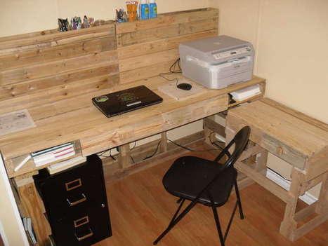 Bureau in Palettes Scoopit
