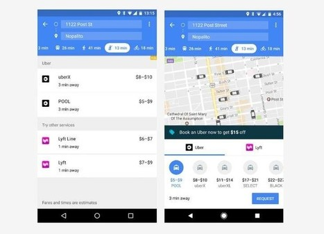 Google Maps optimiza la experiencia móvil de su modo de servicios de transporte | Bits on | Scoop.it