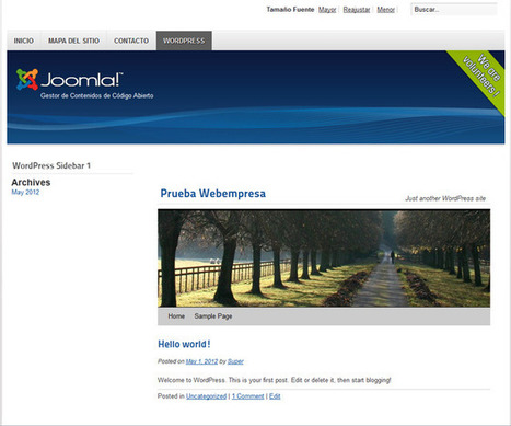Integración de Joomla! con Wordpress - Hosting Joomla   cms_joomla   Scoop.it